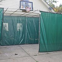 Will this sukkah withstand the elements? Only time will tell.     Photo by Adam Reinherz