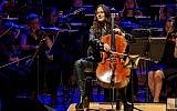"""Maya Beiser performs an orchestral version of David Bowie's """"Blackstar"""" album at the L'Auditori in Barcelona, Spain in July.     Photo by Robert Marquardt/Redfern"""