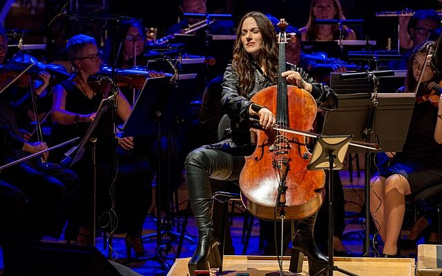 "Maya Beiser performs an orchestral version of David Bowie's ""Blackstar"" album at the L'Auditori in Barcelona, Spain in July. 	    Photo by Robert Marquardt/Redfern"