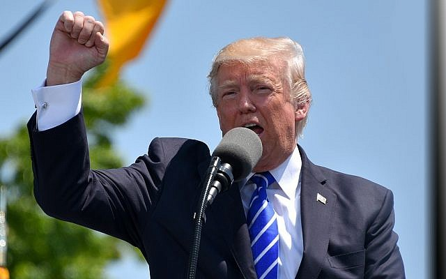 US President Donald Trump surprised aides and top advisers this week when he pushed for action on his campaign promise to relocate the US embassy in Israel from Tel Aviv to Jerusalem, the Washington Post reported over the weekend. (Photo from public domain)