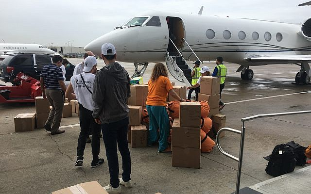 The UJA-Federation of New York works with the Afya Foundation and the Greater New York Hospital Association delivering supplies to Puerto Rico by private jets. (Photo by Josefin Dolsten)
