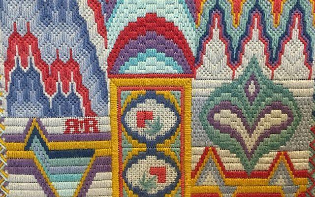 An example of Bargello needlepoint embroidery. (Photos by Renée Ramo)