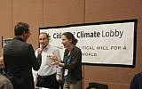 For climate experts, the JCC event was an opportunity to exchange information. (Photo courtesy of Jewish Community Center of Greater Pittsburgh)