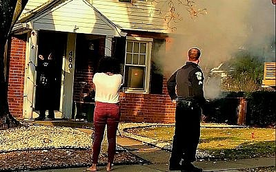 On Dec. 9, the home that Rose Meeks and her family were renting on South Meadowcroft Avenue caught fire. (Photo courtesy of Rose Meeks)
