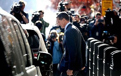 Michael Flynn leaving his plea hearing at the federal courthouse in Washington, D.C, Dec. 1, 2017. (Photo by Chip Somodevilla/Getty Images)