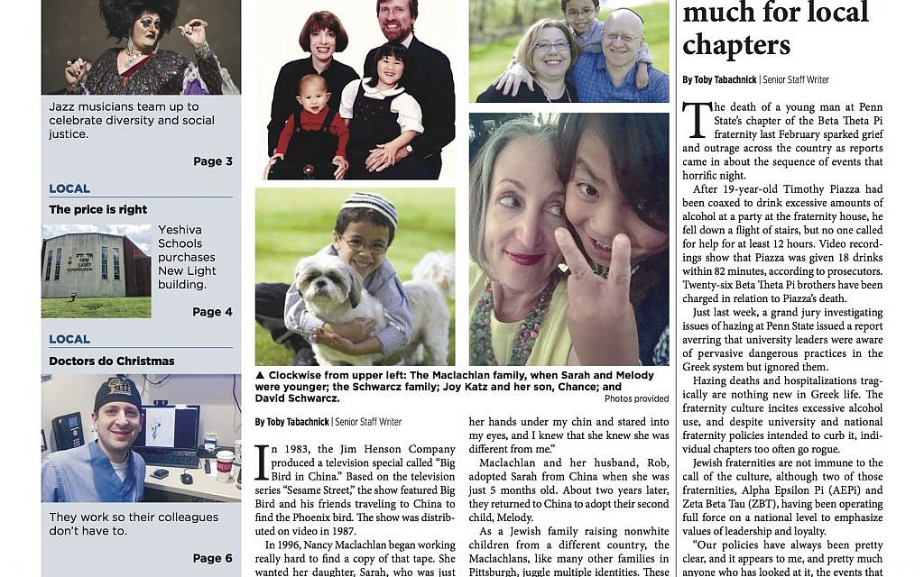 Pittsburgh Jewish Chronicle 12/22/2017