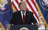 President Donald Trump speaking at the Rotunda of the Utah State Capitol in Salt Lake City, Dec. 4, 2017. (Photo by George Frey/Getty Images)