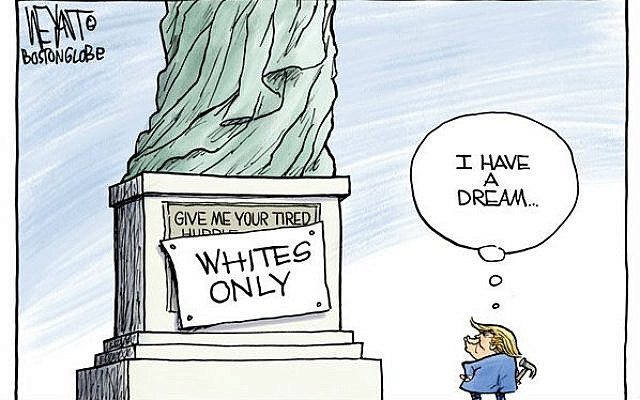 Trump's Real Dream  (Christopher Weyant, The Boston Globe)