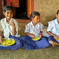 Daily nutritious meals are provided for 1,000 vulnerable children in the slums and villages around Mumbai. (Photo courtesy of Gabriel Project Mumbai)