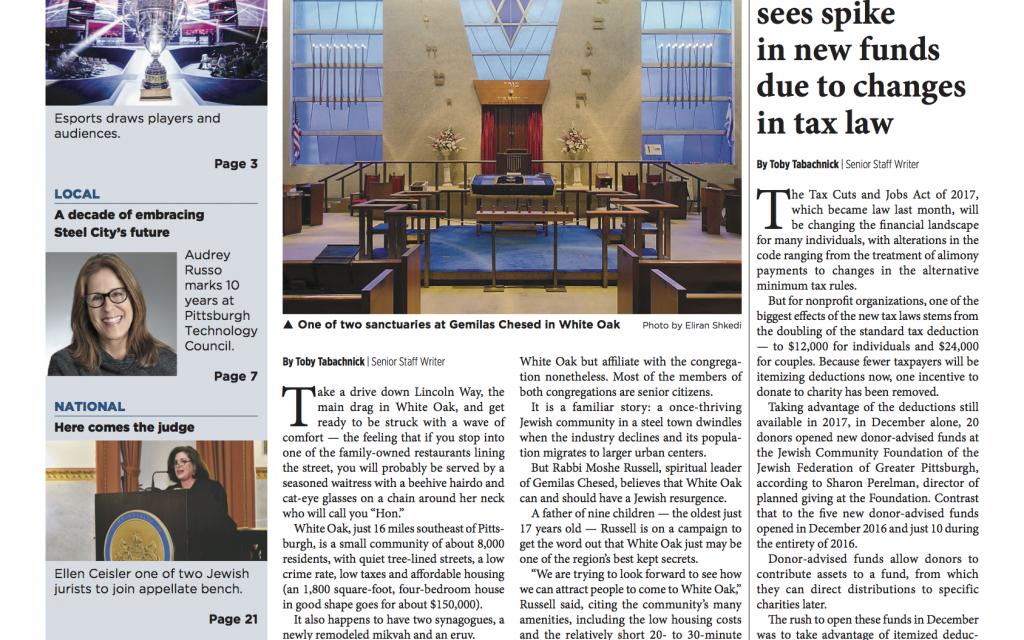 Pittsburgh Jewish Chronicle 1/19/2018