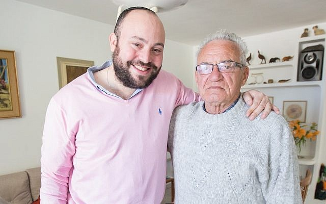 Jonny Daniels with Holocaust survivor Moshe Tirosh in 2015. (Photo courtesy of From The Depths)