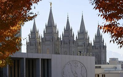 The historic Salt Lake Temple and the world headquarters of the Mormon church in Salt Lake City. (Photo by George Frey/Getty Images)
