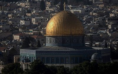 A view of the Dome of the Rock on Jerusalem's Temple Mount. (Photo by Chris McGrath/Getty Images)