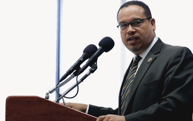 Rep. Keith Ellison (D-Minn.) is the subject of recent controversy over a dinner he attended in 2013 in New York along with Nation of Islam Leader Louis Farrakhan. (File photo)