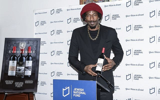 Six-time NBA All-Star Amar'e Stoudemire has launched a line of kosher-for-Passover Israeli wines. (Photo courtesy of Jewish National Fund-USA)