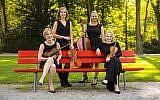 From left: Jennifer Orchard, violin; Tatjana Mead Chamis, viola; Bronwyn Banerdt, cello; and Marta Krechkovsky, violin. (Photo by Todd Rosenburg)