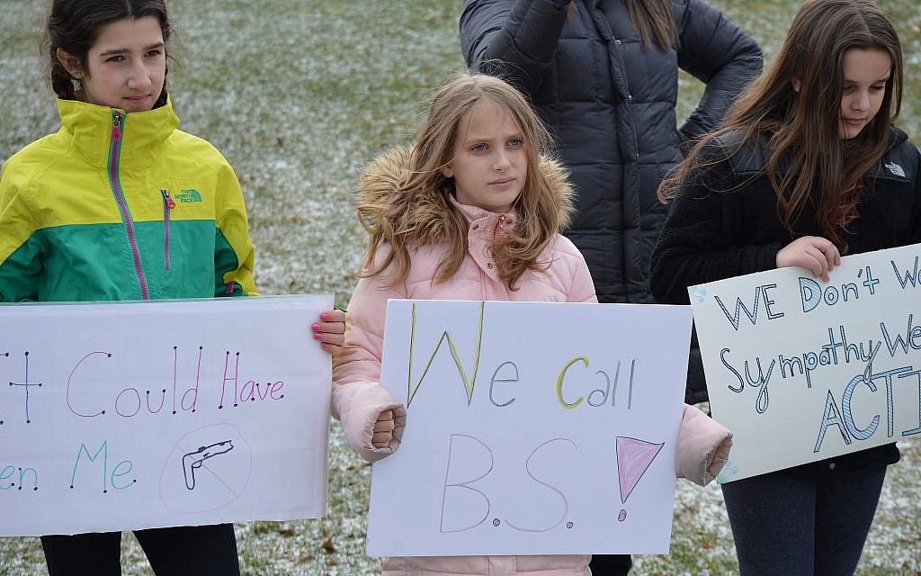 The CDS walkout was planned by the students. (Photo courtesy of Community Day School)