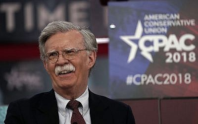John Bolton speaking at the Conservative Political Action Conference in National Harbor, Md., Feb. 22, 2018. (Photo by Alex Wong/Getty Images)