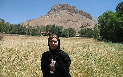 Jennifer Murtazashvili in Baghdad Valley, Bamiyan Province in Afghanistan. (Photo courtesy of Jennifer Murtazashvili)