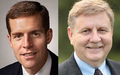 Conor Lamb, left, and Rick Saccone are competing for the District 18 congressional seat. (Photos courtesy of Conor Lamb and Rick Saccone)