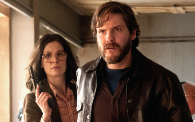 "Rosamund Pike and Daniel Bruhl in a scene from ""7 Days in Entebbe.""  (Photo by Liam Daniel/Focus Features)"