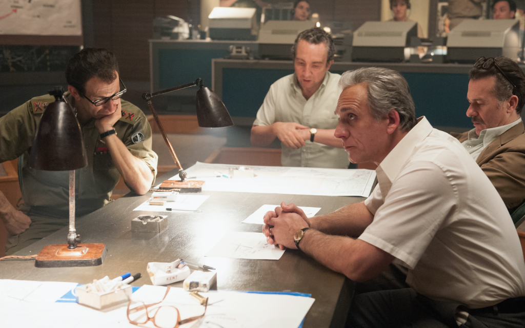 """Lior Ashkenazi, right, as Yitzhak Rabin from the film """"7 Days in Entebbe."""" (Photo by Liam Daniel/Focus Features)"""