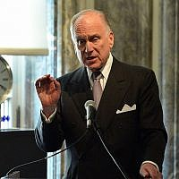 Ronald Lauder, president of the World Jewish Congress, speaking at the Neue Galerie in New York, June 19, 2015. (Photo by Slaven Vlasic/Getty Images for The Weinstein Company)