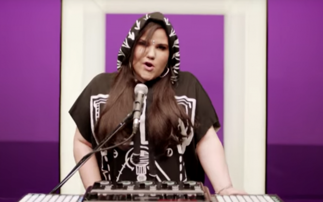Netta Barzilai, who represented Israel in the Eurovision contest, won the competition Saturday night. (Screenshot from YouTube)