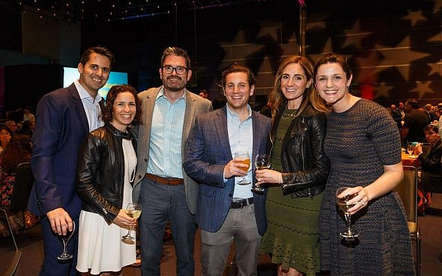 From left: Lee Kimball and Lauren Kimball, Jonathan Diven, David and Lauren Goldberg and Maria Diven. (Photo courtesy of Friendship Circle)