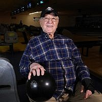 Saul Kaufman celebrated his 100th birthday at North Versailles Bowling Center two weeks ago. (Photo by Adam Reinherz)