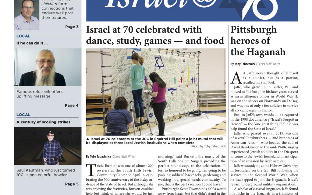 Pittsburgh Jewish Chronicle 4/27/2018