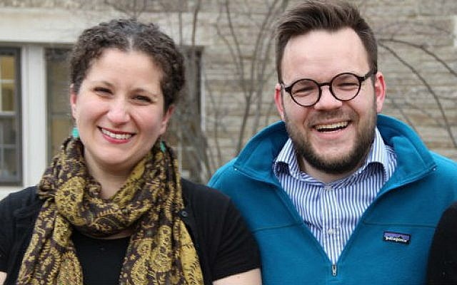 Vanessa Zoltan and Casper ter Kuile  (Photo provided by Rodef Shalom Congregation)