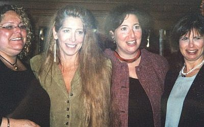 Lucie Brock-Broido, second from the left, with her sisters in 2004. (Photo courtesy of Kim Teitelbaum)