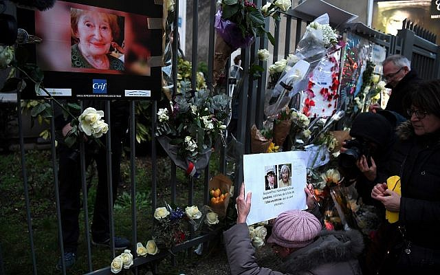 The scene after a march in Paris in memory of Mireille Knoll, the 85-year-old Holocaust survivor murdered last month in her home in what police believe was an anti-Semitic attack. (Photo by Alain Jocard/AFP/Getty Images)