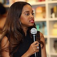 Women's March National Co-Chair Tamika Mallory speaking in New York, April 22, 2017. (Photo by Robin Marchant/Getty Images for Hulu)