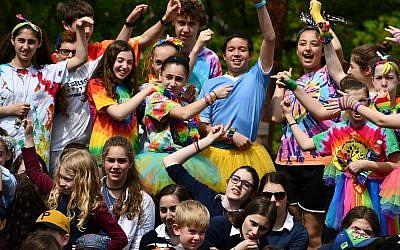 Students celebrating unity at Lag B'Omer event. (Photo courtesy of Community Day School)
