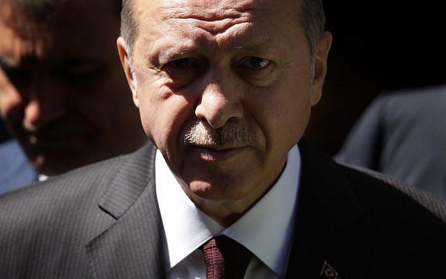 Turkish President Recep Tayyip Erdogan in London, May 14, 2018. (Photo by Dan Kitwood/Getty Images)