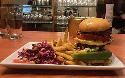 Hamburgers and French fries highlight Cafe 18's revamped menu. (Photo courtesy of Shlomo Perelman)