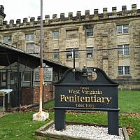 The sign outside the West Virginia State Penitentiary, which operated from 1866 to 1995. (Photo by Adam Reinherz)