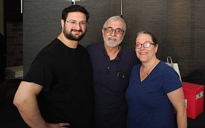 Aaron Siebzener, left, Moishe Siebzener and Deena Ross collaborated on Shabbox, a new kosher venture. (Photo by Adam Reinherz)