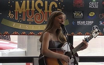 Sloane Simon performs at the Millvale Music Festival. (Photo courtesy of Robin Simon)