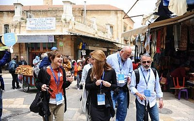 Members of The Friendship Circle Pittsburgh participated in an accessible tour of the Old City of Jerusalem in April. (Photo courtesy of The Friendship Circle Pittsburgh)