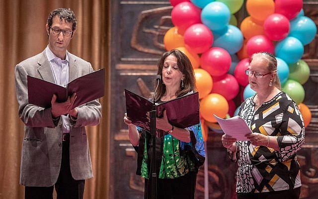 From left: Rabbi Seth Adelson, Cantor Laura Berman and Rabbi Cheryl Klein. (Photo courtesy of Temple Sinai)
