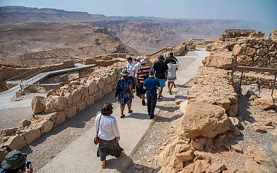 Participants in the mission to Israel hike in the Negev. (Photo by Nechama Design)