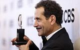 """Tony Shalhoub, winner of the award for best actor in a leading role in a musical for """"The Band's Visit,"""" posing at the ceremony at 3 West Club in New York City, June 10, 2018. (Photo by Jemal Countess/Getty Images for Tony Awards Productions)"""