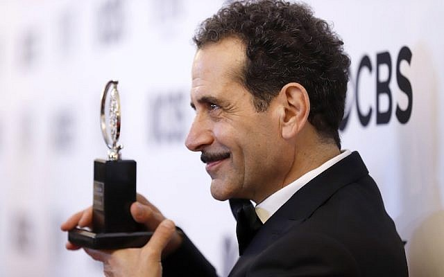 "Tony Shalhoub, winner of the award for best actor in a leading role in a musical for ""The Band's Visit,"" posing at the ceremony at 3 West Club in New York City, June 10, 2018. (Photo by Jemal Countess/Getty Images for Tony Awards Productions)"