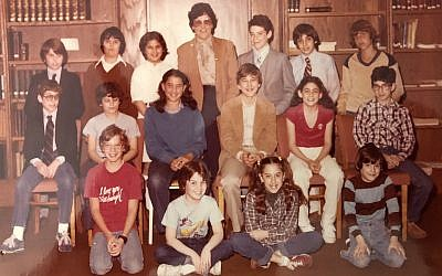 Junior synagogue — led and run by the students — was a significant part of Roz Rosenblatt's Hebrew school program. Pictured is the board from the late 1970s. (Photo courtesy of David Rosenblatt)