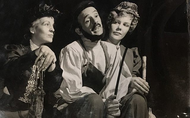 A photo of actor Eddie Steinfield, middle, who was one of the most prominent actors in the Playhouse's storied history. (Photo by Jonah Berger)