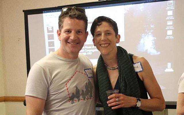 Jordan Karp and Jamie Phillips celebrate Bet Tikvah's 30th anniversary. (Photo courtesy of Bet Tikvah)