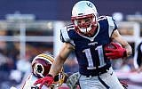 Julian Edelman playing against the Washington Redskins at Gillette Stadium in Foxboro, Massachusetts, Nov. 8, 2015. (Photo by Maddie Meyer/Getty Images)